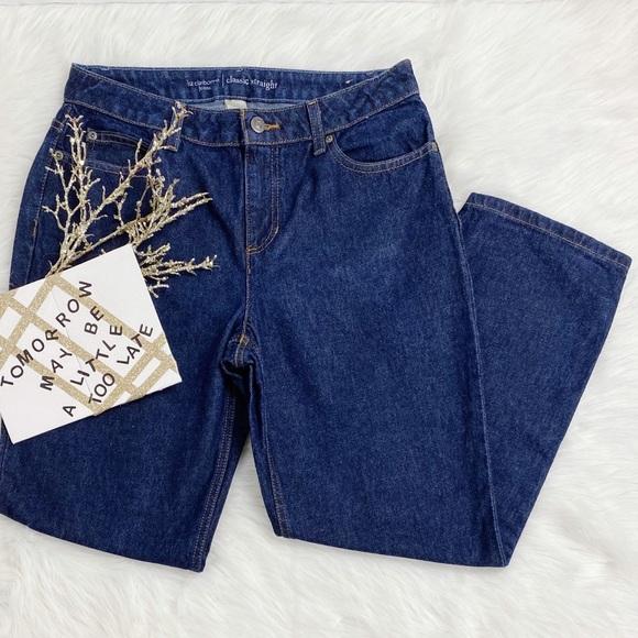 Liz Claiborne Petite Straight Jeans Womens Size 10